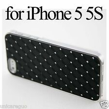 Crystal Diamond Bling Rhinestone Case Cover Plastic Glass SP For iPhone 5 5S