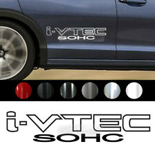 "Universal All Vehicle ""I-VTEC SOHC"" Racing Sports Decal Sticker 2EA 10.2"" x 2.2"""