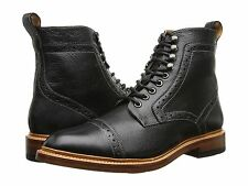 Men's Stacy Adams Madison II Cap Toe Dress Lace Up Boot Black Milled Leather