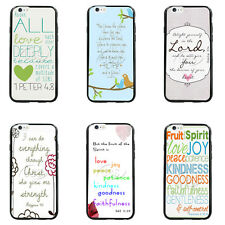 Blue Jeremiah 29:11 Bible Verses TPU Bumper Hard case For iPhone4 4s 5 5s 5c 6