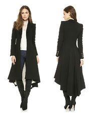 Women's Carrer Swallow Tail trench Long Trench Windbreaker Coats XS S M L XL XXL