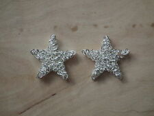 Silver Christmas Star Charms. Made with 25 mm wire (SCF11)