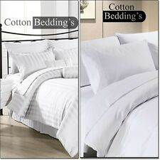 Best Price 1000 TC 100% Egyptian Cotton Hotel Bedroom White Solid & Striped