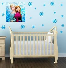30 SNOWFLAKE wall or window stickers | Decal, vinyl, FROZEN, Christmas, kids