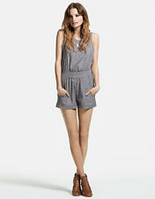 True Religion S Chambray Tie Back Romper S NWT 168$ Top Jeans Tee Shirt Tank