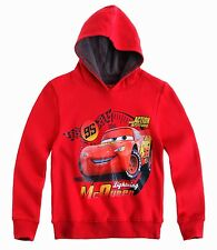 Disney Cars Sweatshirt with Hood for Boys 3 to 8 Years  | Red