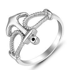 Fashion Jewelry 925 Sterling Silver Anchor Finger Rings