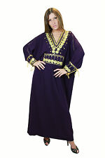 Caftan Dress Dreamy Sweet Women's Abaya Purple in Oriental Style KA00662