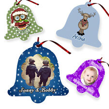 Personalised CHRISTMAS BELL DECORATION - CHOOSE YOUR DESIGN