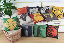 "18"" X 18"" A Game of Thrones Houses Badages Cushion Covers Pillows Shell Home Car"
