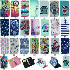 Stylish Cute Hybrid Flip Printed Wallet PU Leather Stand Case Cover For MOTO G2