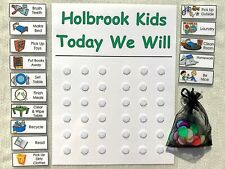 Chore Chart Daily Planner Checklist for the family. Schedule out your Kids Day
