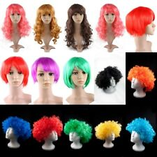 WOMENS LADIES MENS WIGS FANCY DRESS COSPLAY WIGS POP PARTY COSTUME AFRO BLACK