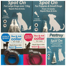 SPOT ON FLEE AND TICK TREATMENT FOR PUPPY,SMALL,LARGE DOGS.CATS COLLAR KILLER
