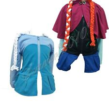 Frozen Princess Anna/Queen Elsa Outwear Slim Coat Outfit Cosplay Jacket Top 3-8T