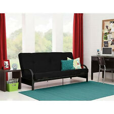 Full Size Futon with Mattress Frame Bed Couch Sofa Cover Sleeper Dorm Furniture