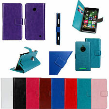 Folio Flip Slot Wallet leather Skin Magnetic Stand Case cover for Nokia Phones