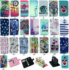 Stylish Hybrid Flip Printed Wallet PU Leather Stand Case Cover For MOTO X+1