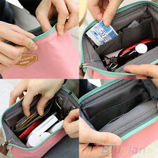 Portable Antique Multifunction Travel Cosmetic Bag Makeup Toiletry Case Pouch