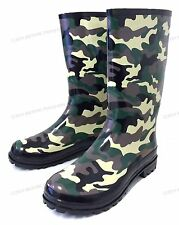 Men's Rain Boots Camouflage Rubber Waterproof Snow Work Hunting Shoes, Size:7-12
