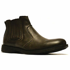 Mens New Casual Biker Style Cowboy Chelsea Dealer Work Ankle Boots Shoes Size