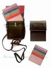 Ladies Genuine Real Leather MultiColoured Wallet Purse Bag Case For New iPhone 6