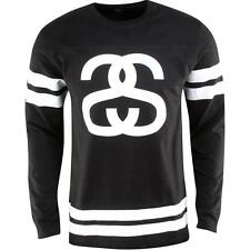 Stussy Double Stripe Football Long Sleeve Tee (black)