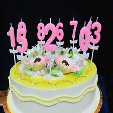 Pink Number Happy Birthday Cake Cupcake Candle Party Age Celebration Decoration