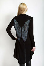 Vocal Pearls White Stones Wings Wrap Cardigan Sweater Tunic Shirt Sexy S M L XL