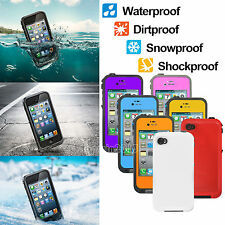 New Waterproof Shockproof Dirt Proof Durable Case Cover For Apple iPhone 4 4S 4G