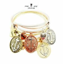 NEW HOT fashion anchor alex and ani wire loop charm jewelry bracelet 4 Color