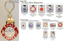 Fire Department, EMT, & Medical Tech fobs, various designs & keychain options