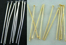 Wholesale Silver Plated Gold Plated Head Pins Needles Jewelry Findings 6 Sizes
