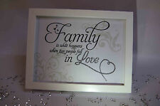 Family Is Love, Sparkle Word Art Pictures, Quotes, Sayings, Home Decor