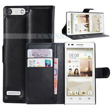 For Huawei Ascend G6 4G Arrival Luxury Litchi Lines Durable Leather Wallet Case