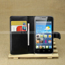 For Huawei Ascend Y511 Arrival Luxury Litchi Lines Durable Leather Wallet Case