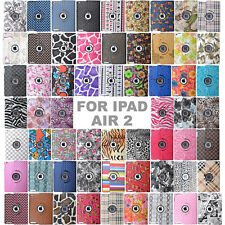 60 Styles 360 Rotating PU Leather Case Smart Stand Cover Skin For IPad AIR 2