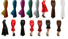 Ariel Green Mermaid scale Skirt Fish tail Costume Faux Leather Pencil Skirts