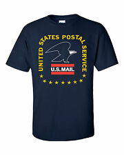USPS POSTAL POST OFFICE T-SHIRT VINTAGE 3 COLOR POSTAL LOGO ON CHEST SMALL-3X