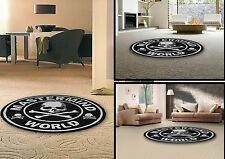 New Mastermind Skull Black Round Fashion World Rug Carpets 10 sizes Freeship