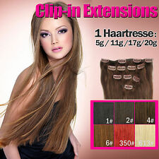 100% Remy Clip In Human Hair Extensions Single Braid 21.6""