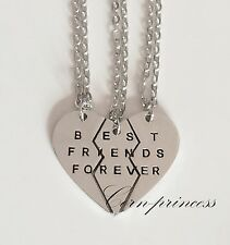Mxed Silver Gold Tone BFF Best Bitches Friends Forever 2/3 Parts Necklaces Set