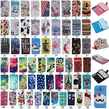 Stylish Cute Printed Magnetic Flip PU Leather Stand Case TPU Cover For S7560M