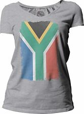 Big Texas Weathered Flag of South Africa Women's Short-Sleeve V-Neck T-Shirt