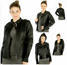 Plus Size Faux Leather Black Leather Jackets 3 Styles in 1X,2X and 3X