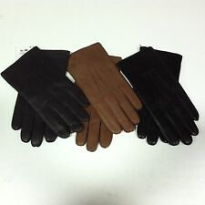 COACH Men's Cashmere Lined Soft Leather Gloves S M L XL Black Chocolate Brown