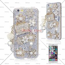 Luxury 3D Bling Design Handmade Coco Bag and Flower Case Cover For iPhone Galaxy