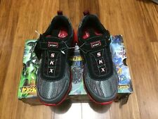 NEW Skechers Sport Boy's Revel-Cain Black/Grey/Red- Size 1 2 3 12 13- COOL