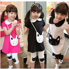 girls summer sets baby short sleeve outfits children 100% cotton clothing sets