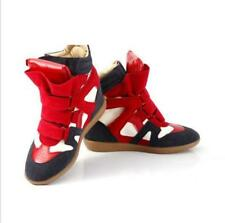 New Fashion Women's Strap High-Top Sneakers Shoes Ladies Ankle Wedge Boots Shoes